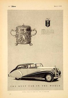 1950 Ad Rolls Royce Phantom IV Luxury Car Classic Automobile British Import YTM5.  v@e.