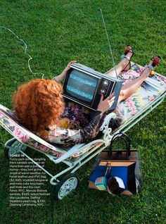'Going To Pieces' Lily Cole by Alex Prager for US Vogue March 2013 1