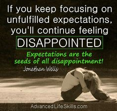 Do not be disappointed... ever