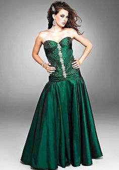 Emerald Green One Shoulder Prom Dress, Emerald Green Prom Dresses ...
