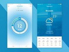 Recently I'm working with thermostat device app. It's called Otrema. Work in progress. Here are the just cold controller and temperature screen.   How is it? Please fee free to leave a comment. I w...