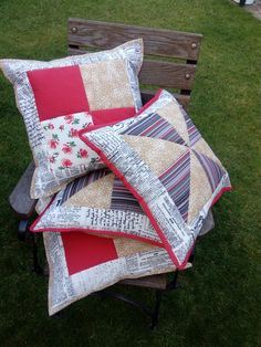 Patchwork polštářky 45x45 cm cushions Cushions, Quilts, Blanket, Scrappy Quilts, Throw Pillows, Toss Pillows, Pillows, Quilt Sets, Blankets