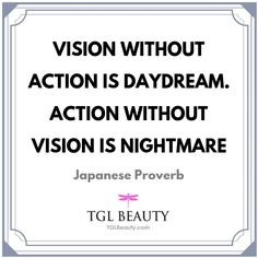 Vision Without Action Is Daydream. Action Without Vision Is Nightmare   Quote by Japanese Proverb   #beautyblogger #eyecream #NaturalLook #IGSkincare #antiacne  NaturalBeautyBlogger #VeganBeauty #NaturalHair #FaceMask #sk2 #instabeauty #SkinHealth #health #makeup #awetmuda #Acne #collagen #mesofat #cosmetics
