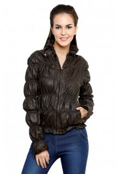 CHOCOLATE BROWN PARACHUTE LEATHER JACKET
