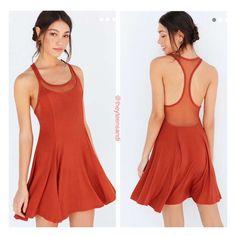 Urban Outfitters Chance Mesh Racerback Mini Dress