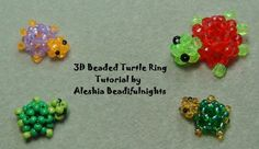 3D Beaded Turtle Ring Tutorial.  (OMG here it is!  I've been looking for this!  Thank you, Beadifulnights!)