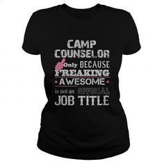 Awesome Camp Counselor Shirt #tee #style. ORDER HERE => https://www.sunfrog.com/Jobs/Awesome-Camp-Counselor-Shirt-Black-Ladies.html?60505