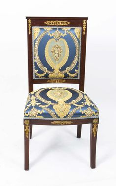 Antique Empire Style 8 Mahogany Ormolu Chairs c.1920 (c. 1920 ...