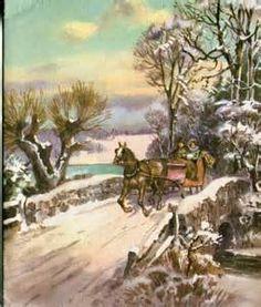 Vintage Victorian Christmas Scene
