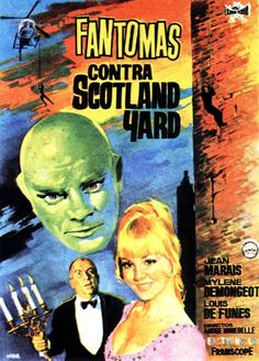 Spanish movie poster image for Fantômas contre Scotland Yard The image measures 610 * 850 pixels and is 177 kilobytes large. Old Film Posters, Cinema Posters, Indie Movies, Old Movies, Tv, Westerns, Alternative Movie Posters, French Films, Film Music Books