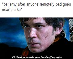 Bellamy, Clarke, Bellarke, the 100, tumblr, funny