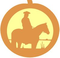 Horse and rider pumpkin carving pattern