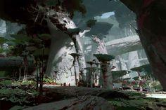 Jungle Floor - Guild Wars 2: Heart of Thorns, Theo Prins on ArtStation at https://www.artstation.com/artwork/n41O9