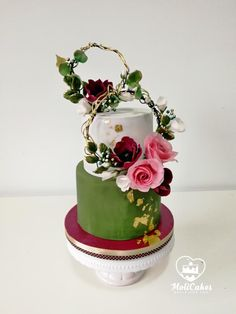 50th wedding anniversary cake by MOLI Cakes