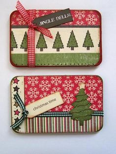 Gift Card Holders - these would be cute decorating altoids tins