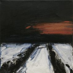 Ørnulf Opdahl: Vintervei, 40 x 40 cm Contemporary Landscape, Landscape Art, Landscape Paintings, Winter Painting, Winter Art, Winter Road, Nature Paintings, Art Studios, Abstract Art