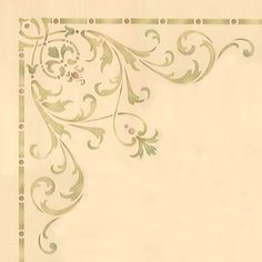 Decorate and emphasize areas of a grand ceiling above the dining room, living room, or entry way with our Hampton Corner Ceiling Stencils. Use the Hampton Ceiling Stencil Set for a complete and cohesi Stencils, Stencil Diy, Stencil Painting, Fabric Painting, Stencil Patterns, Stencil Designs, Motif Arabesque, Royal Design, Ceiling Medallions