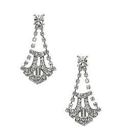 Nina Holly 1920s Inspired Drop Earrings #Dillards