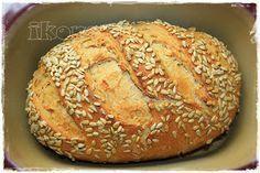 Kerniges Hofbrot Pampered Chef, No Bake Cake, Bagel, Food And Drink, Bread, Baking, Ethnic Recipes, Merlin, Super