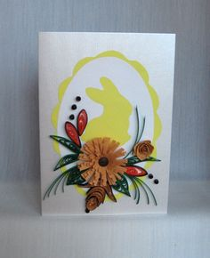 Quilling M handmade crafts and hobbies: Quilling Easter Cards (3) - Felicitari de Paste