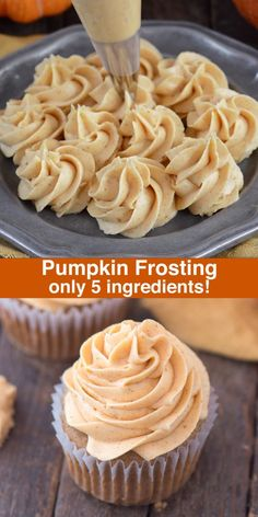 How to make pumpkin spice frosting / buttercream, with only 5 ingredients! How to make pumpkin spice frosting / buttercream, with only 5 ingredients! Cupcake Recipes, Baking Recipes, Cupcake Cakes, Fondant Cakes, Baking Ideas, Fondant Figures, Cup Cakes, Köstliche Desserts, Delicious Desserts
