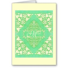 Lacy Monogram Colors Card