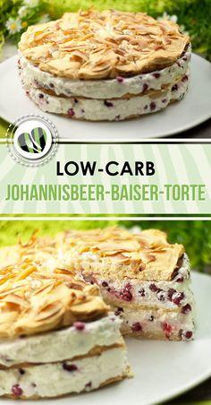Die low-carb Johannisbeer-Baiser-Torte ist unheimlich lecker, sieht toll aus und ist zudem auch noch glutenfrei. (Low Carb Dessert Recipes)