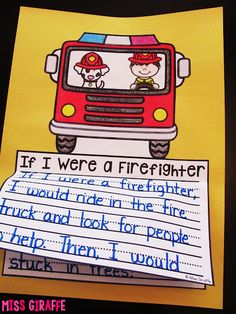 Kids Safety Firefighters writing activities and other great fire safety week ideas for literacy - October is one of my favorite months for fun holiday projects! Not going to lie, that is mostly because I love Halloween crafts and learnin. Fire Safety Crafts, Fire Safety For Kids, Fire Safety Week, Child Safety, Kindergarten Activities, Writing Activities, Educational Activities, Kindergarten Literacy, Firefighter Crafts