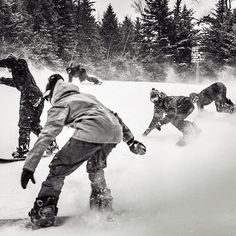 Say Yes to friends on POW DAYS! Cas shredding is always more fun with friends!