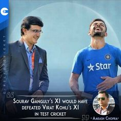 'Sourav Ganguly's XI would have defeated Virat Kohli's XI' - Aakash Chopra