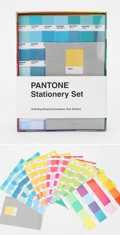 pantone stationery set {objects of desire}