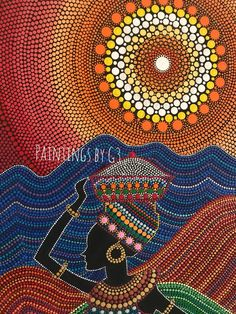 Best 12 Gloss varnished acrylic dot painting on inch canvas. Ready to hang. Aboriginal Dot Painting, Dot Art Painting, Mandala Painting, Stone Painting, Diy Painting, Mandala Canvas, Mandala Dots, Aboriginal Art Australian, African Art Paintings