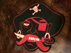 MOTORCYCLE GANG PATCH CHENILLE PIRATE VINTAGE ANTIQUE