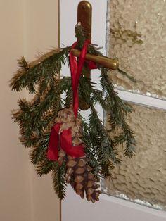 weihnachtliche Türschnalle