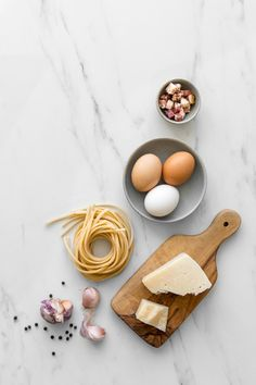 Spaghetti alla Carbonara Recipe - With just a few quality ingredients, our Classic Creamy Carbonara is simple, elegant and guaranteed to make your eyes roll back in pure bliss with every bite. #Italian #pastarecipe #easypasta #quickdinner #foodstyling #foodphotography #realfood #easyrecipe