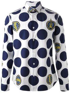 Kenzo Dots And Logo Shirt - Boutique Mantovani - Farfetch.com