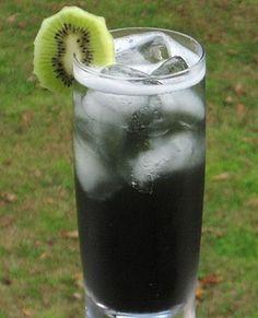 Bong Water  (5 oz. Malibu Coconut Rum .5 oz. Amaretto .5 oz. Southern Comfort .5 oz. Captain Morgan's Spiced Rum .5 oz. Blue Curacao .5 oz. Raspberry Liqueur 1 oz. Sweet  Sour Mix 3 oz. 7-Up Cherry or Kiwi wheel to garnish)