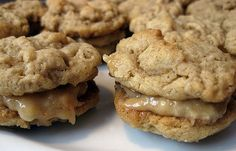 Healthy Peanut Butter Oatmeal Sandwich Cookies