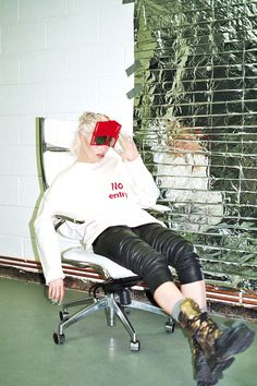 """""""You should try dressing like an area 51 escapee"""" editorial for Vice by Millicent Hailes. Model Gemma Janes"""