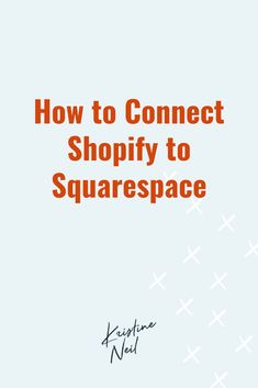 Wondering whether you should go with either Squarespace or Shopify for your eCommerce site? Don't choose! You can have the best of both worlds using a small bit of code and for just a few dollars each month. Track Shipment, Ecommerce Web Design, Email Campaign, Printing Labels, Personal Branding, Workplace, Online Business, Connection, Social Media
