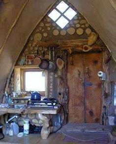 A cordwood shed in Arkansas.
