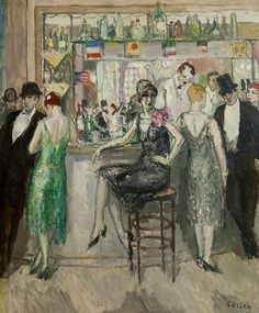 The Roaring Twenties: Jean Louis Marcel Cosson, At the Bar, 1920-29