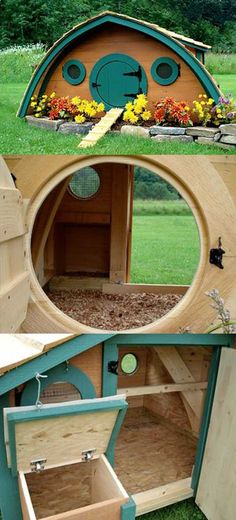 Chicken Coop Hobbit Hole Idea from the Shire | DIY Woodworking Projects for your Homestead.