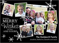 Falling Snow Frames Holiday Card