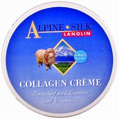Lanolin and Collagen Moisturizing Cream 250gr/8.75oz by Alpine Silk. $26.80. With New Zealand Merino Lanolin. Alpine Silk Lanolin and Collagen Cream 250gr/8.75oz is a delicate and concentrated rejuvenating cream to promote hydration and elasticity. Excellent as facial toner.