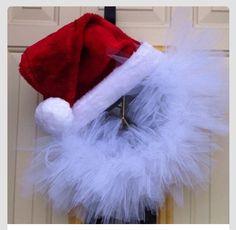 Santa hat wreath