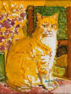 The Ginger Cat by Ruskin Spear