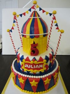 Carnival/Circus Birthday Party: Carnival Cake
