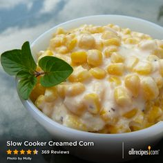 """Slow Cooker Creamed Corn 
