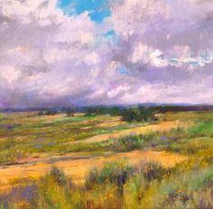 Albert Handell, Afternoon Build-Up, oil, 28 x 28